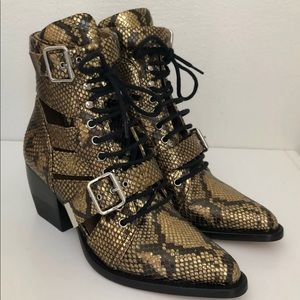 AUTHENTIC CHLOE RYLEE BOOT HARVEST GOLD EU39.5/8.5